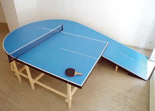необычный стол для пинг-понга