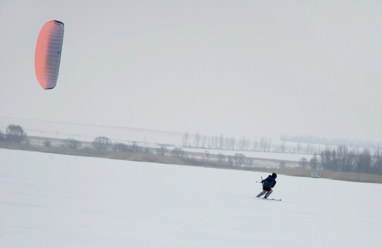 зимний кайтинг в Харькове