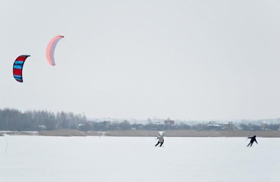 Зимний кайтинг Харьков